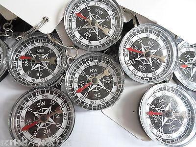12 Stk.Kompass, Schlüsselanhänger, Ø ca.3,5  cm ,Kindergeburtstag,Mitgebsel