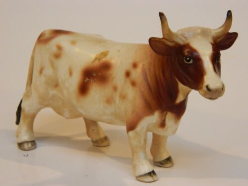 Antique 1950s Beswick style porcelain Holstein cow #1156 figurine