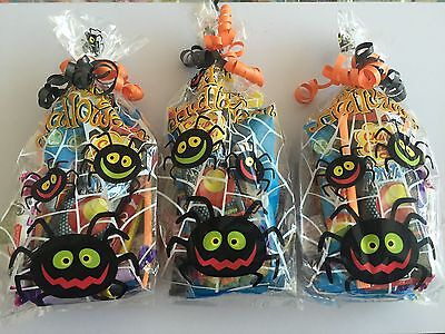 Pre Halloween (x 10 Pre Filled Halloween Sweet Gift Bags Cones Party Halal Suitable Free P&P)
