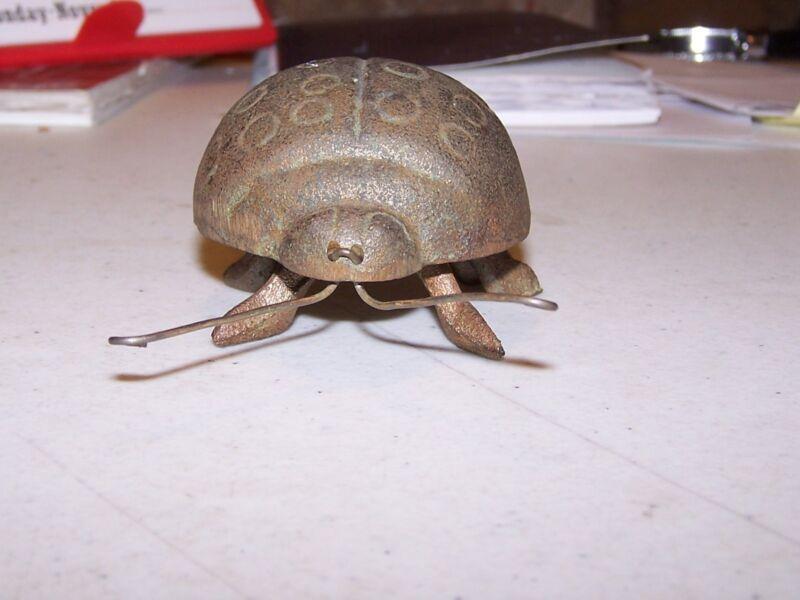 Cute Metal Ladybug Figurine