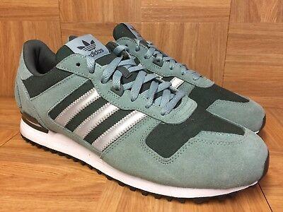 RARE Adidas Originals ZX-700 Forest Green Sz 12 Men's Running Shoes LE COOL!