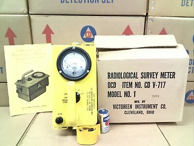 Victoreen Cdv-717 Mod. 1 Radiation Detector Not Working-parts Only 25804