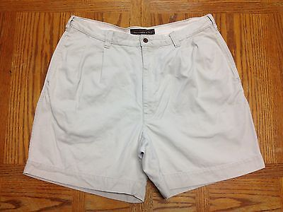 ABERCROMBIE & FITCH KHAKI CASUAL GOLF SHORTS HAND MEASURED 36W BEST SH213u