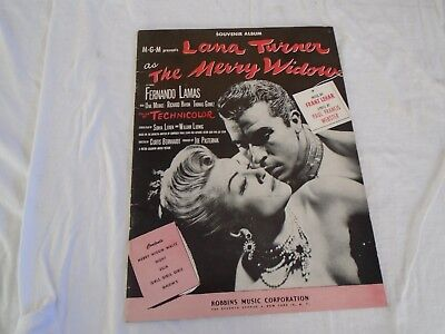 The Merry Widow Songs - THE MERRY WIDOW Song Book Lana Turner Fernando Lamas 5 Songs