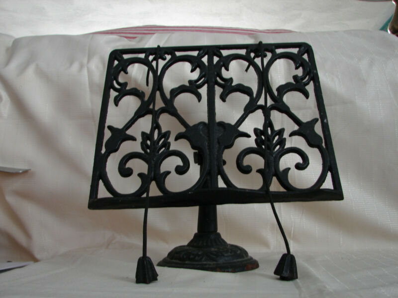 Vintage Cast Iron Book Stand,Black and heavy