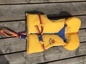 Child's Buoy-o-boy PFD, life jacket, yellow