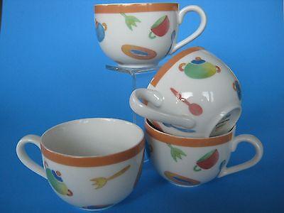 - 4 Villeroy & Bosh Coffee/Tea Cups CITTA & Campagna-DESCO Utensil/Kitchen Design