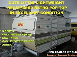 LIGHTWEIGHT 3 BERTH RETRO POP TOP MILLARD CARAVAN. HAS ANNEX Heathcote Sutherland Area Preview