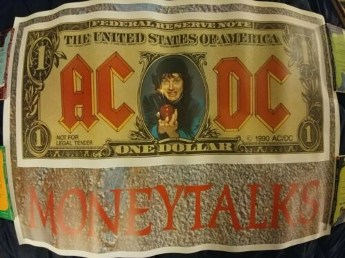 ACDC AC/DC Money Talks Promo Poster   24 X 33.5