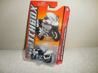 2012 MATCHBOX HIGHWAY WHITE BMW R1200 RT-P POLICE MOTORCYCLE  # 84