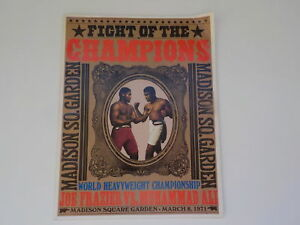 Boxing Program MUHAMMAD ALI vs JOE FRAZIER I 1971 Cassius Clay Fight Boxers VTG