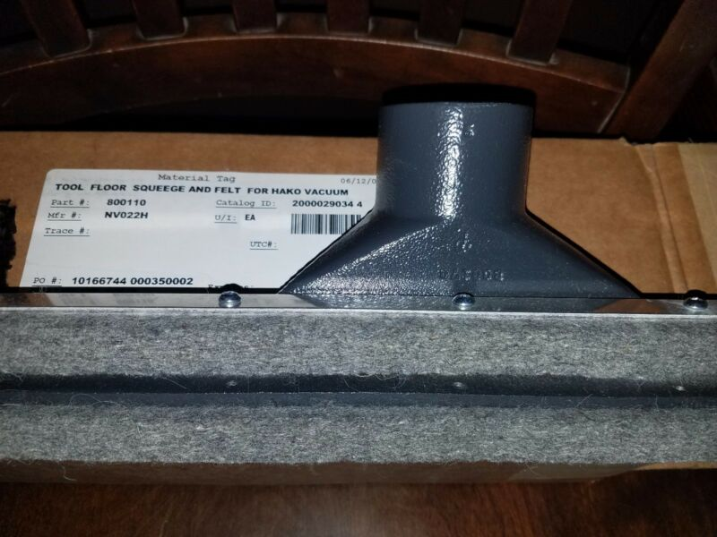 Hako Floor Squeegee - NV022H  Felt  Minuteman  Industrial Wet/Dry Vacuum  2 Pack