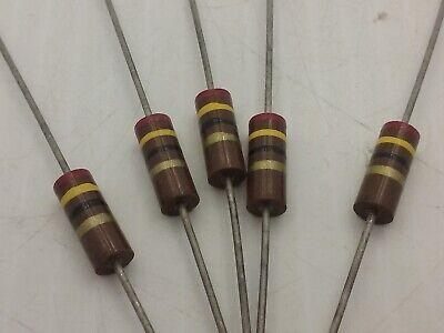 Carbon Comp Resistor 24 Ohms 1 Watt 5 Lot Of 5 Nnb