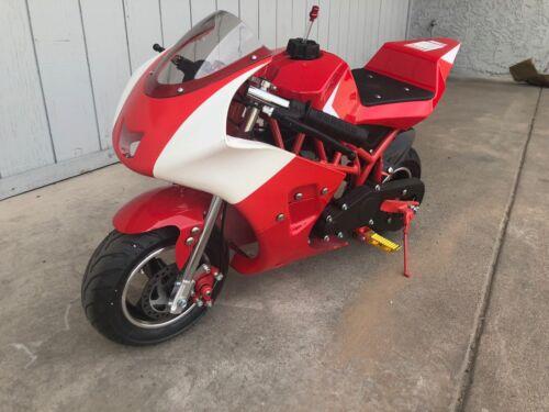 Brand New High Performance 4 Stroke 40cc Mini Pocket Bike MT4 RED