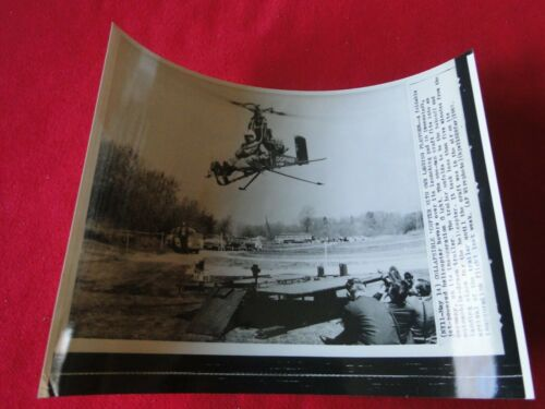 Vintage Original Aviation Helicopter Press Photo Collapsible Helicopter 1963
