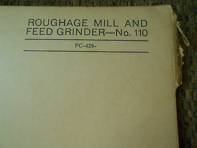 John Deere 110 Roughage Mill Feed Grinder Parts Catalog Pc-429