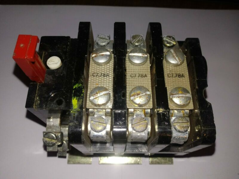 GENERAL ELECTRIC GE CONTACTOR CR224C610A C778A HEATERS 600VAC