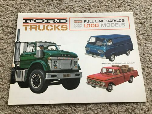 1963  Ford full line truck catalogue, light-duty to heavy-duty models sales lite