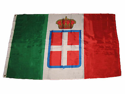 3x5 Kingdom of Italy Italian Royal Crown Premium Quality Flag 3'x5' Banner - Italian Banner