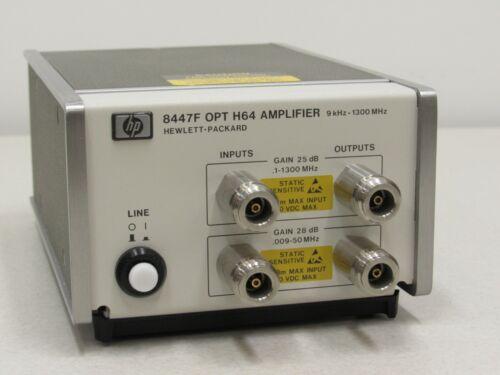 HP Agilent 8447F option H64 Amplifier 9 kHz to 1300 MHz