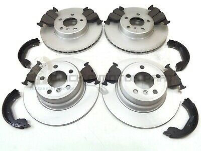 Delphi BMW X3 E83 Rear Brake Vented Discs /& Pads /& Hand Brake Shoes 03-10 2.0D