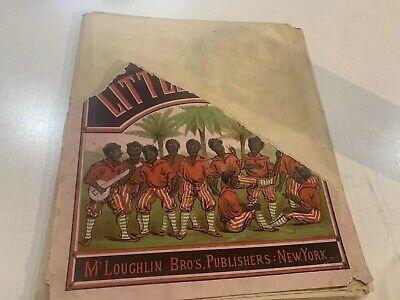 RARE ANTIQUE TEN LITTLE N....,. BOOK WITH MUSICAL NOTES – C. 1895 - MCLOUGHLIN
