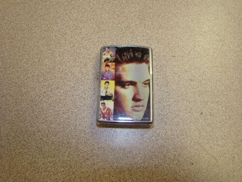 Zippo Lighter: Elvis Memories - Brushed Chrome - 2006 Retired