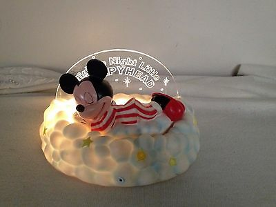 Vintage Baby MickeyMouse Colored Night Light/Motion Sensor/Sound Activated 4-3/4