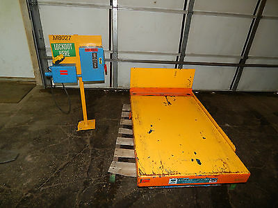 Bishamon 2000lbs Scissor Tilt Lift Table 3phase 1hp 31 X 47 Table