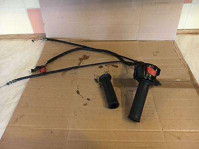 HONDA CBR 929 FIREBLADE Right Hand Throttle Grip & Switch Gear & OEM Grips (76)