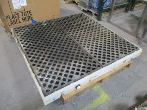 "Pig Modular Spill Deck PAK466 Size: 54.5x54.5x4.25"" 55000lbs 35Gal Sump. Used"