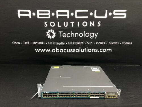 Cisco Ws-c3560x-48pf-l 48-port Poe+ 10/100/1000 Switch W/ Pwr