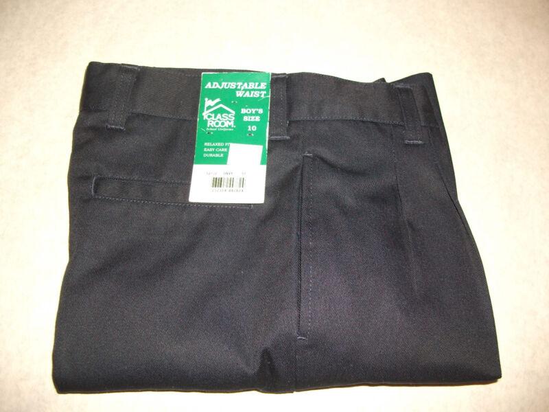 Boys Shorts 10 Poly/Cotton School Uniform Dark Navy Blue Adjustable Waist