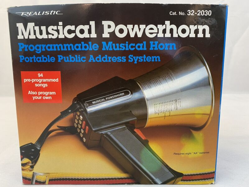 Realistic Musical Powerhorn 32-2030 Programmable Portable Public Address System