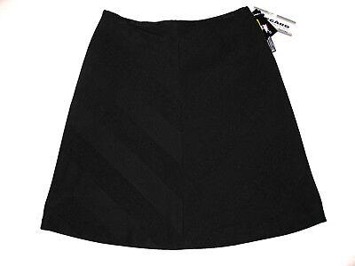 Nygard Collection Petites SKIRT Black Lined Womens Sz 10 Diagonal Design $68 NWT