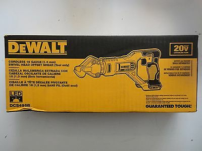 DEWALT DCS496B 20V 20 Volt max Li-Ion 18 Gauge Swivel Head Offset Shear New NIB