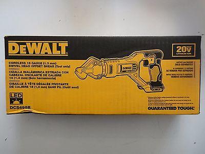 DEWALT DCS496B 20V 20 Volt max Li-Ion 18 Gauge Swivel Head Offset Shear New NIB