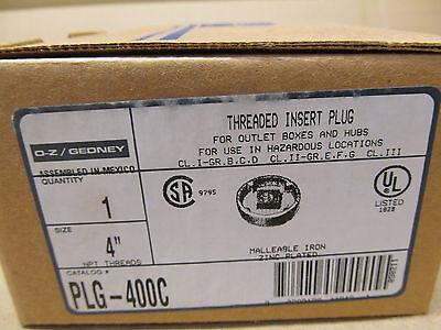 1 Nib O-z Gedney Plg-400c Plg400c 4 Threaded Insert Close-up Plug