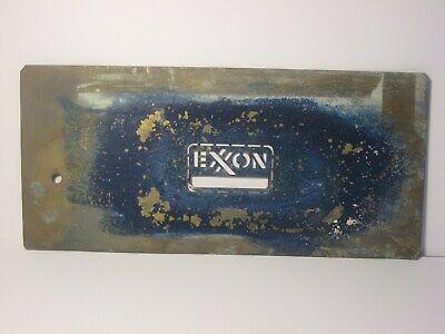 Vintage Exxon Brass Barrel / Box Stencil