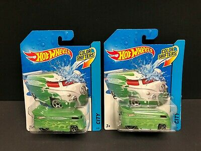 Hot Wheels 2013 Color Shifters Volkswagen Drag Bus Lot Of 2.