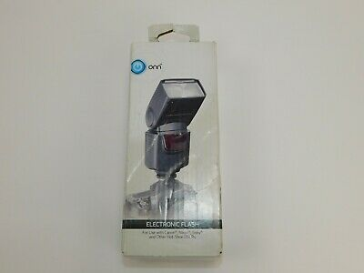ONN ONA18CA004 Electronic Flash for DSLR Cameras, Black