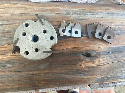 4 Molding Cutterhead 58 Bore Wood Shaper Cutter Sharp With 3 Sets Of Knives