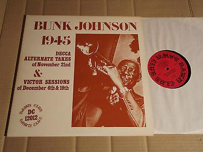 BUNK JOHNSON - 1945 - DECCA ALTERNATE TAKES OF NOVEMBER 21nd & VICTOR ... LP