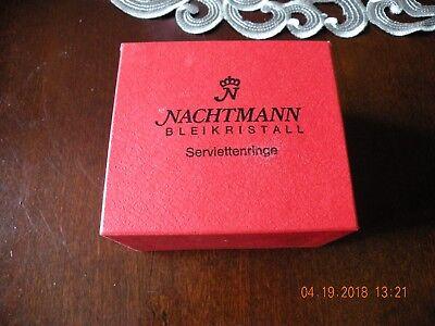 Crystal Napkin Rings - Nachtmann Bleikristall 24% Lead Crystal Germany - NIB