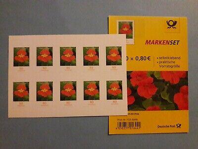 10 Briefmarken Selbstklebend 0,80 €  Neu gültige Frankaturware 80 cent
