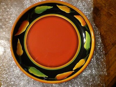 Clay Art JALAPENO Salad Plate Hand Painted 8-5/8