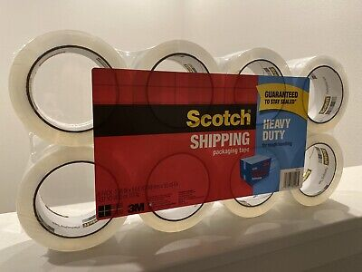 Scotch Heavy Duty Shipping Packaging Tape 8 Pack 1.88 In.x 54.6 Yd Total 437 Yd