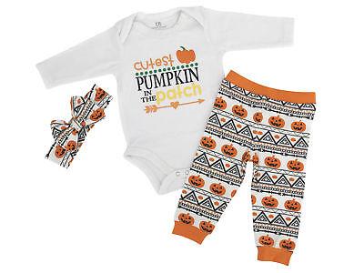 Baby Girls Cutest Pumpkin Layette Set Boutique Newborn Infan