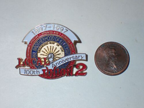 IBEW Collectible Lapel Pin Local 2 100 Year Anniversary