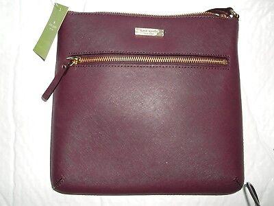 920eac7b923f NWT kate spade Rima Laurel Way Leather File Bag Crossbody Mahogany WKRU4496